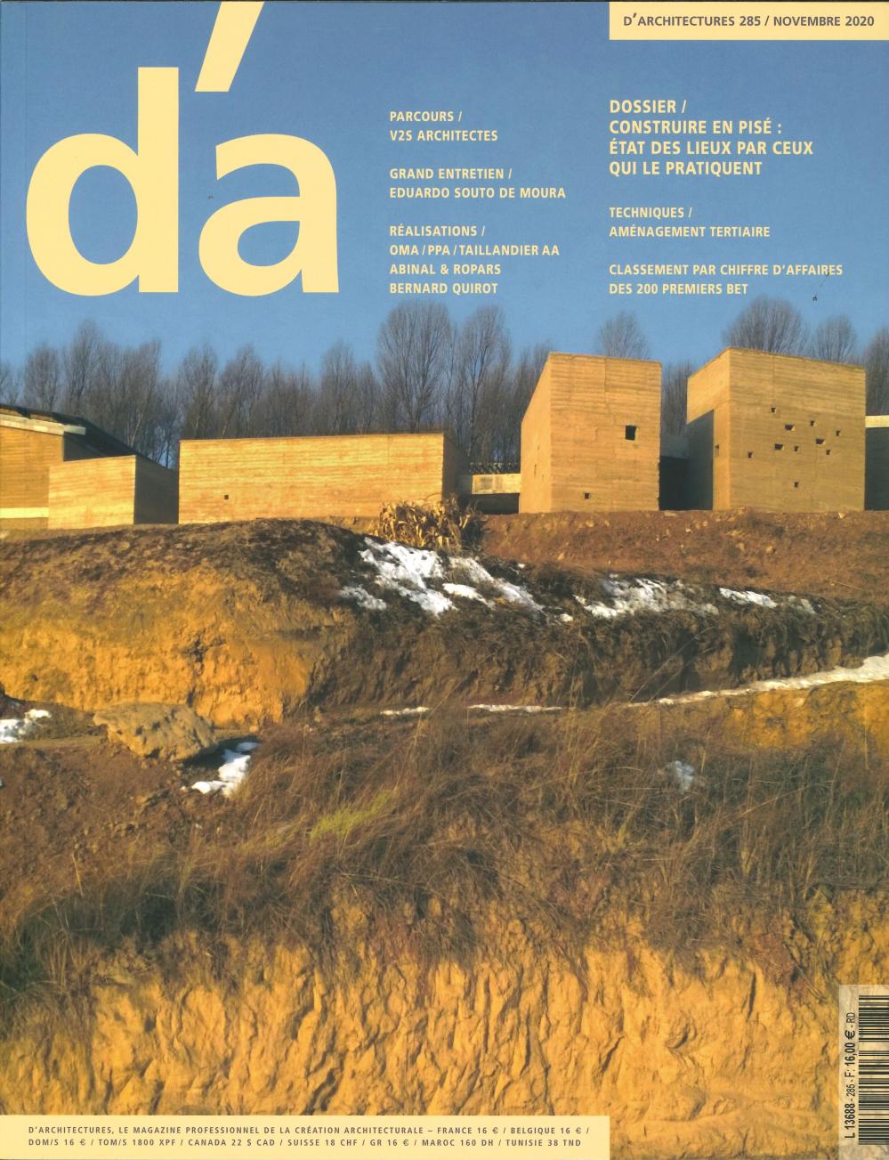 D'ARCHITECTURES N 285 - NOVEMBRE 2020
