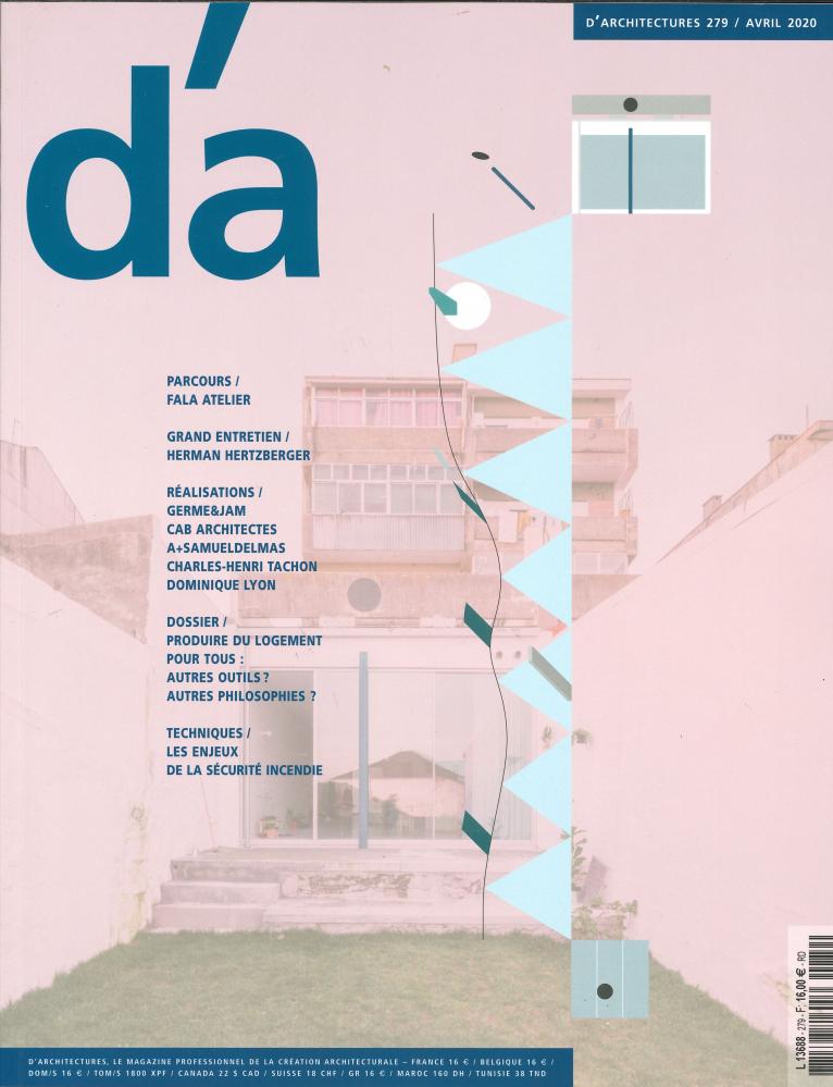 D'ARCHITECTURES N 279 PRODUIRE DU LOGEMENT  - AVRIL 2020