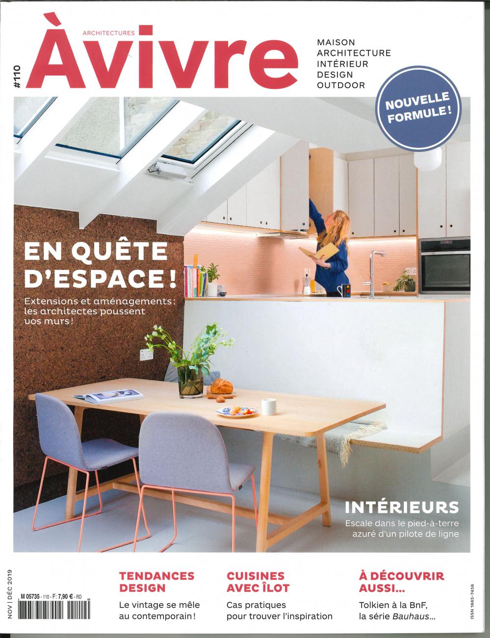 ARCHITECTURES A VIVRE N 110 EN QUETE D'ESPACE - NOVEMBRE/DECEMBRE 2019