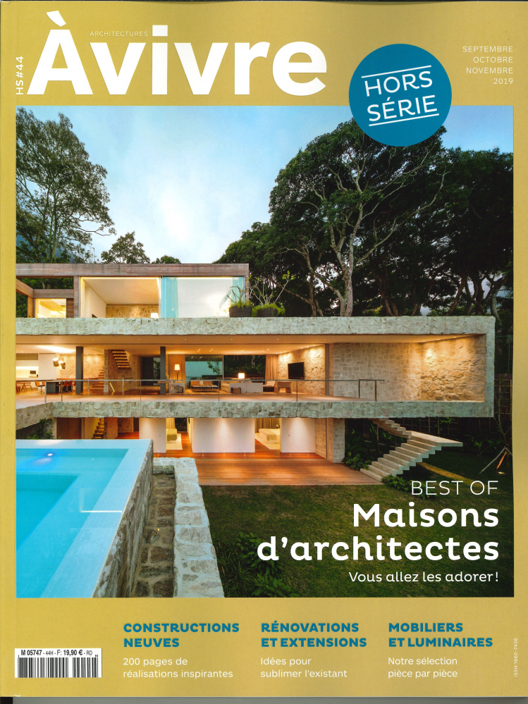 ARCHITECTURES A VIVRE HS N 44 BEST OF MAISONS D'ARCHITECTES  - SEPTEMBRE/OCTOBRE/NOVEMBRE 2019