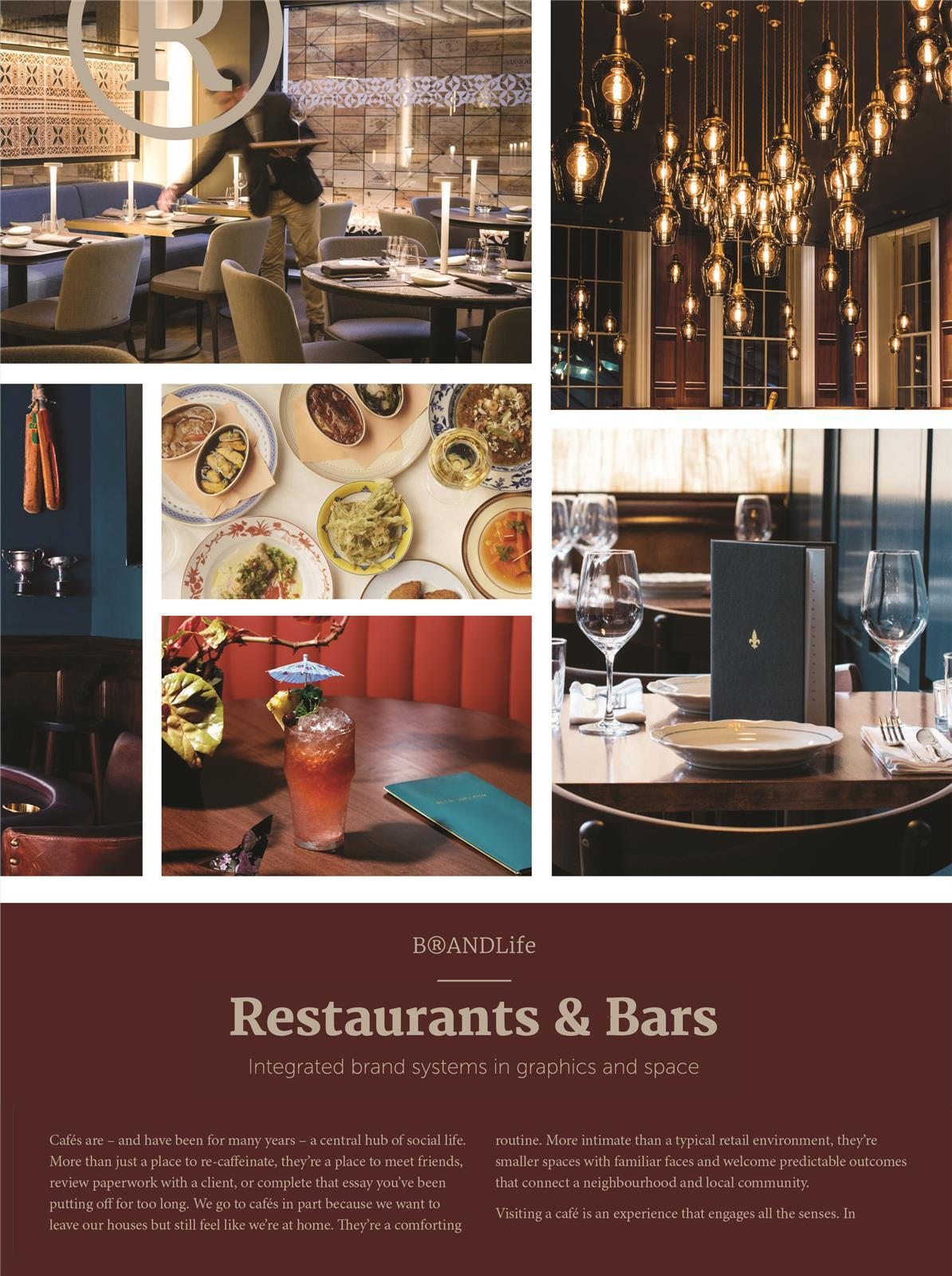 BRANDLIFE RESTAURANTS & BARS: INTEGRATED BRAND SYSTEMS IN GRAPHICS AND SPACE /ANGLAIS