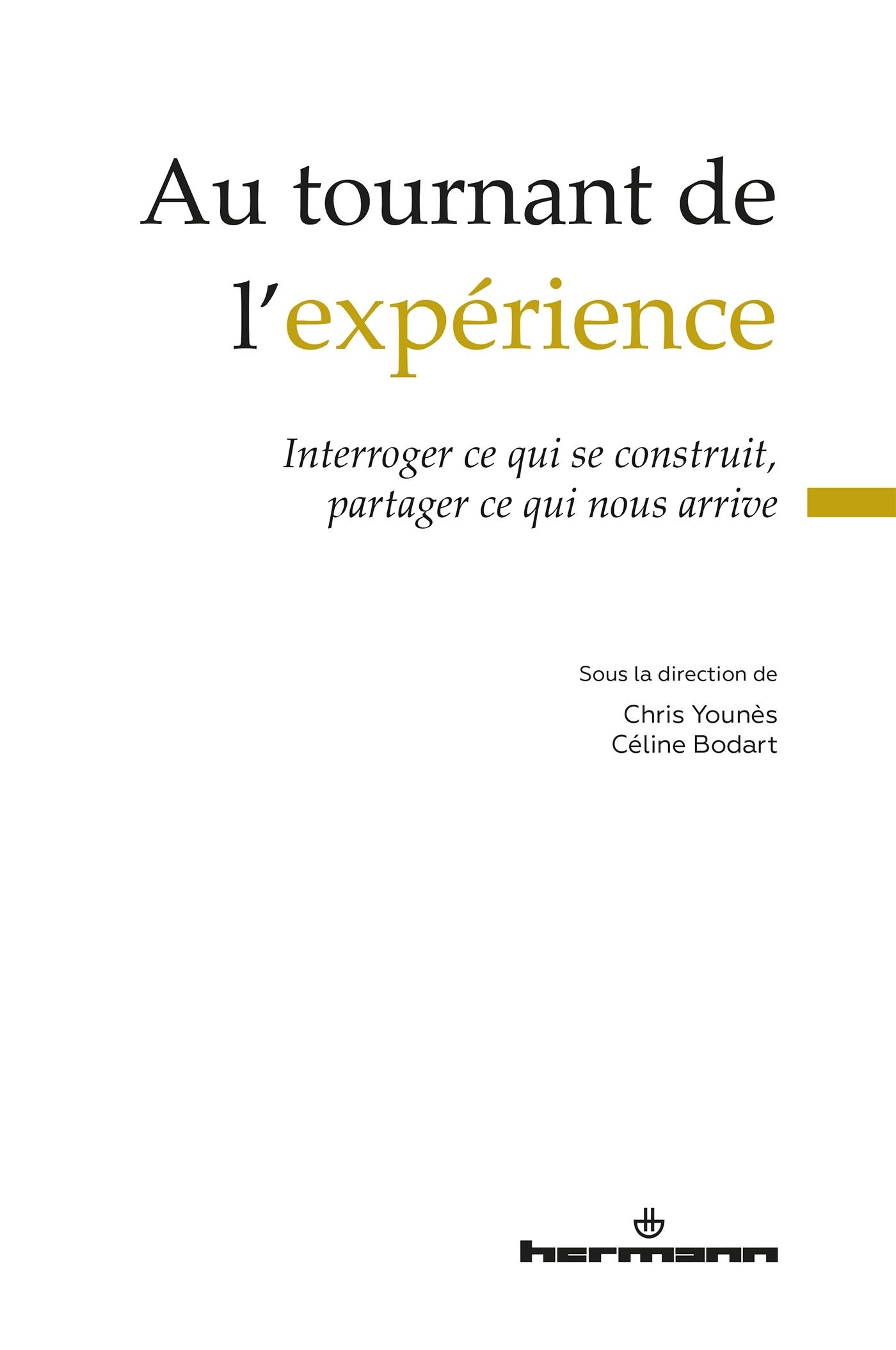AU TOURNANT DE L'EXPERIENCE - INTERROGER CE QUI SE CONSTRUIT, PARTAGER CE QUI NOUS ARRIVE