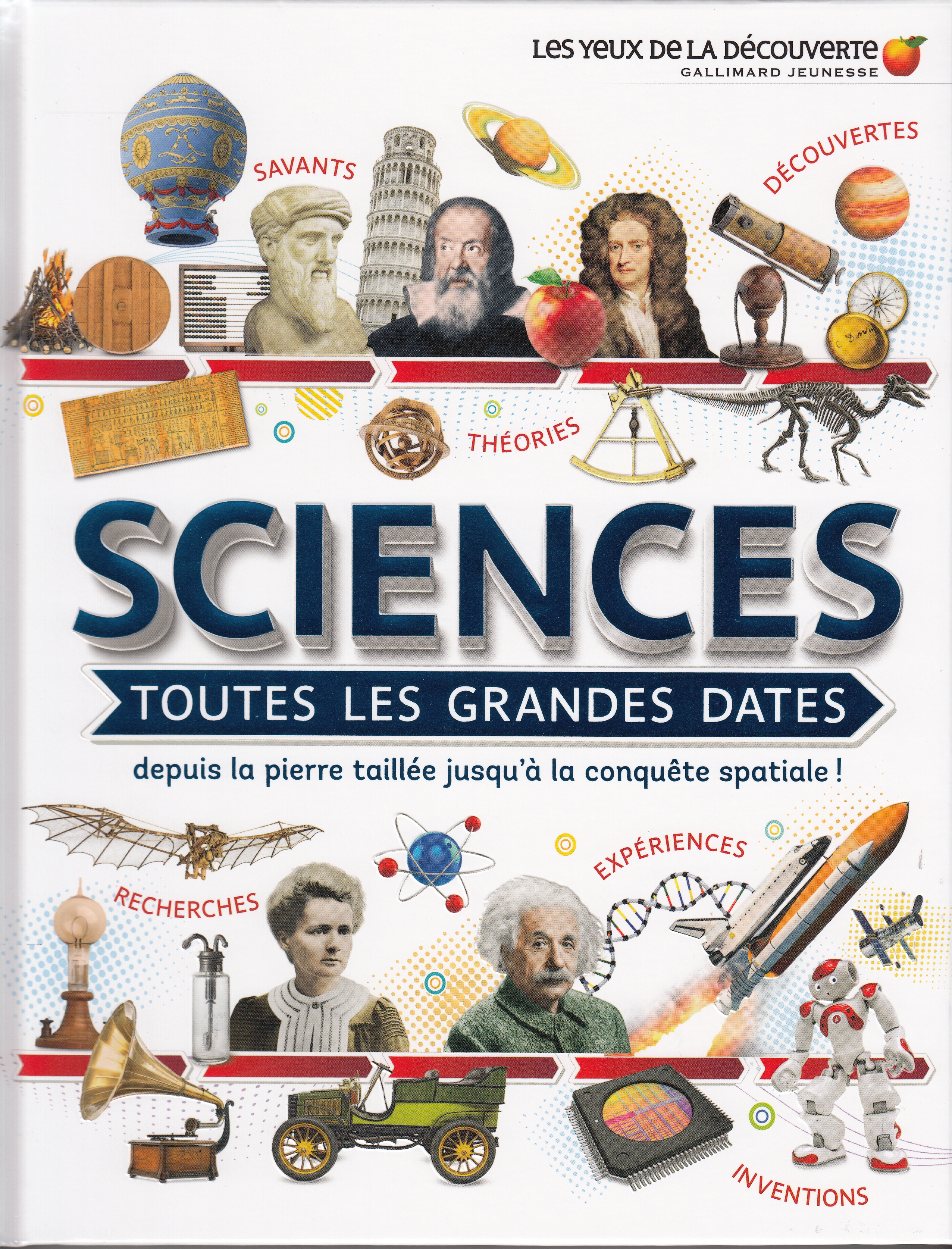 SCIENCES : TOUTES LES GRANDES DATES - DEPUIS LA PIERRE TAILLEE JUSQU'A LA CONQUETE SPATIALE !