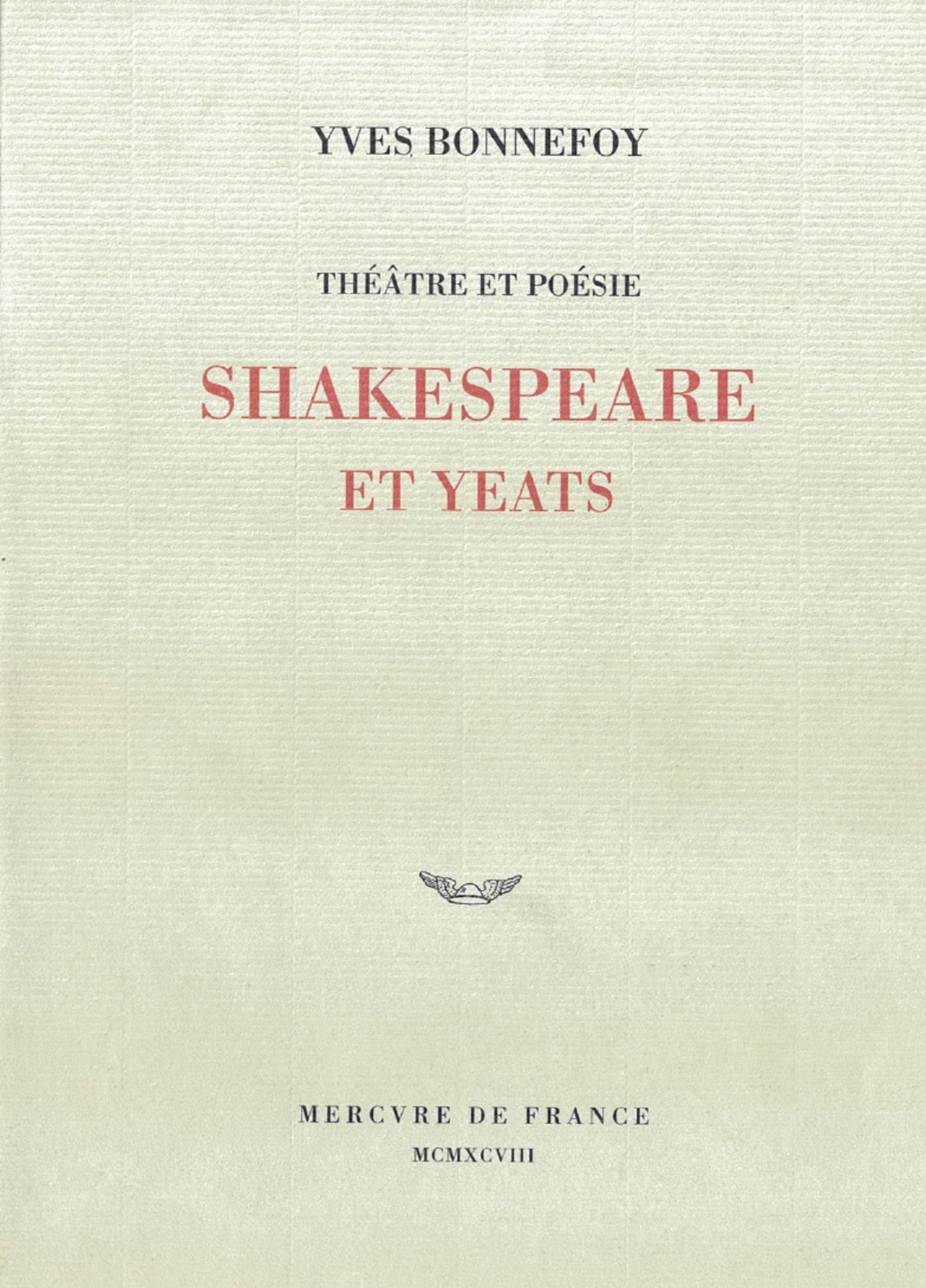 Théâtre et poésie : Shakespeare et Yeats