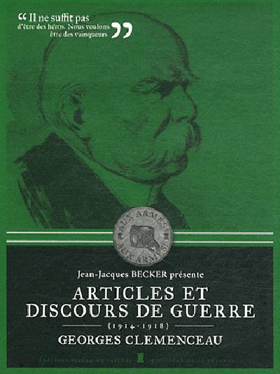 DISCOURS DE GUERRE, GEORGES CLEMENCEAU