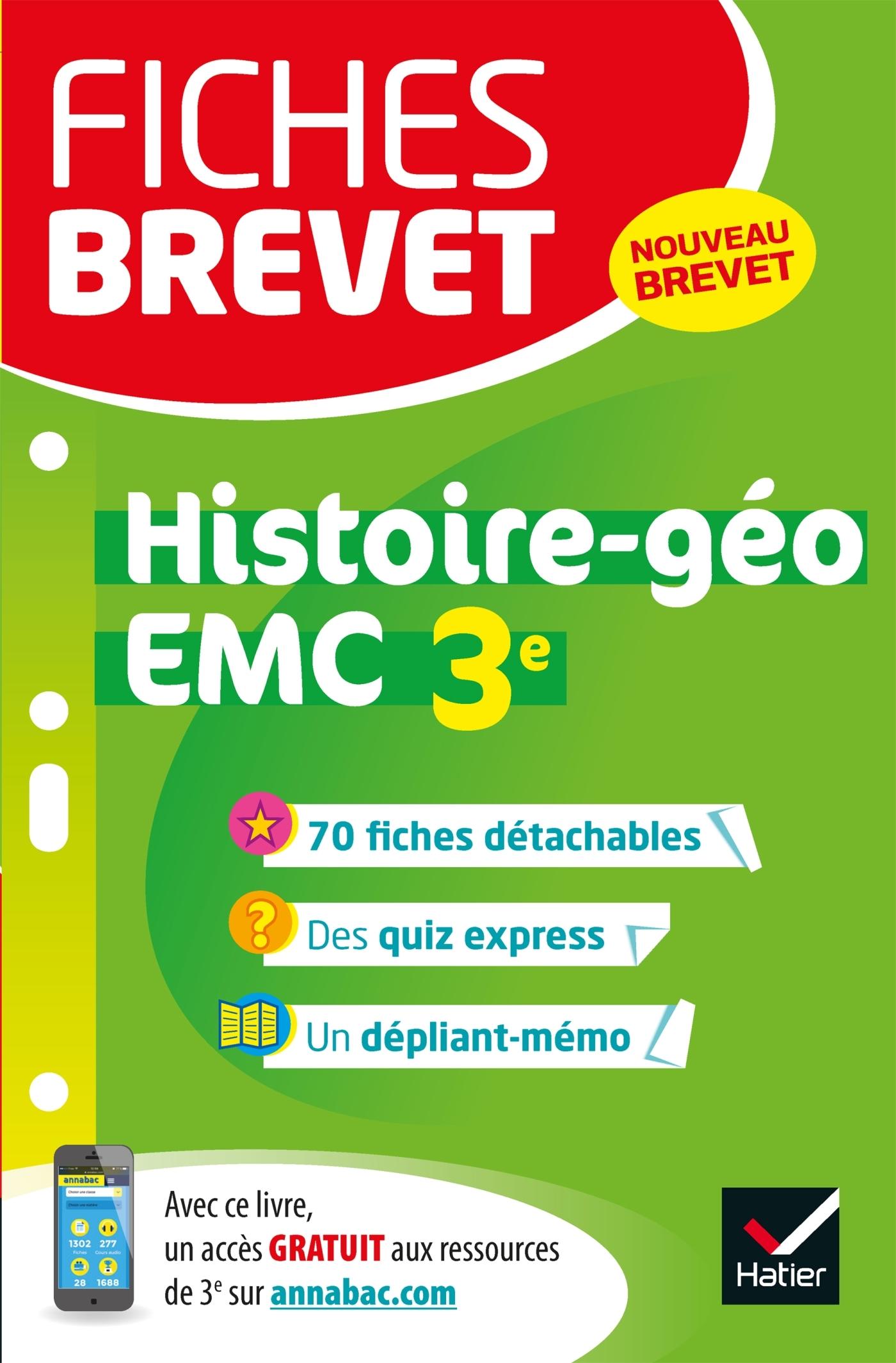 FICHES BREVET HISTOIRE-GEOGRAPHIE EMC 3E