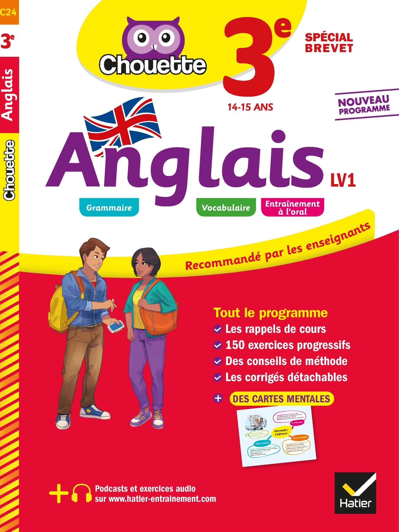 ANGLAIS 3E - LV1 (A2+, B1) - CAHIER D'ENTRAINEMENT ET DE REVISION
