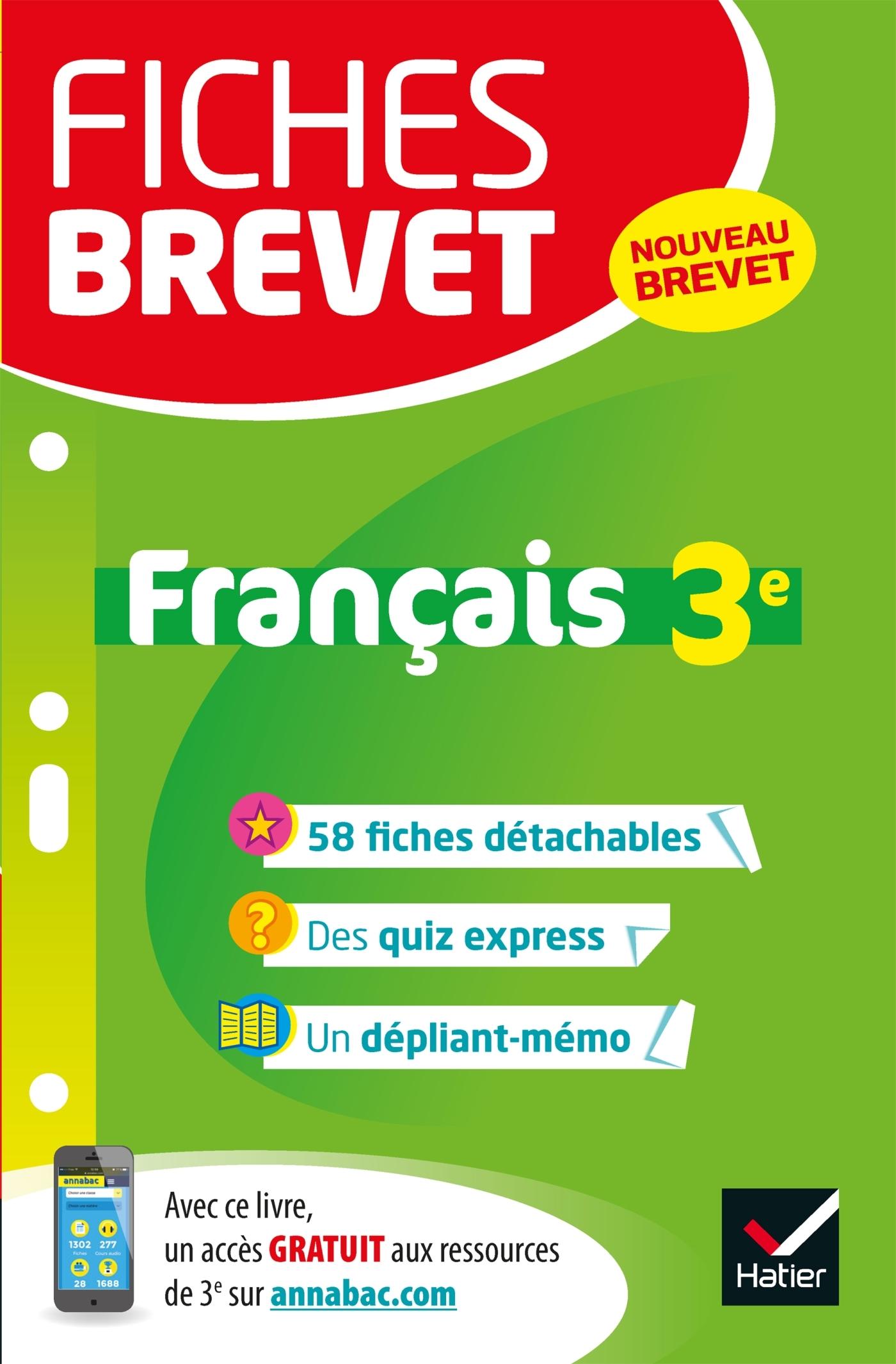 FICHES BREVET FRANCAIS 3E
