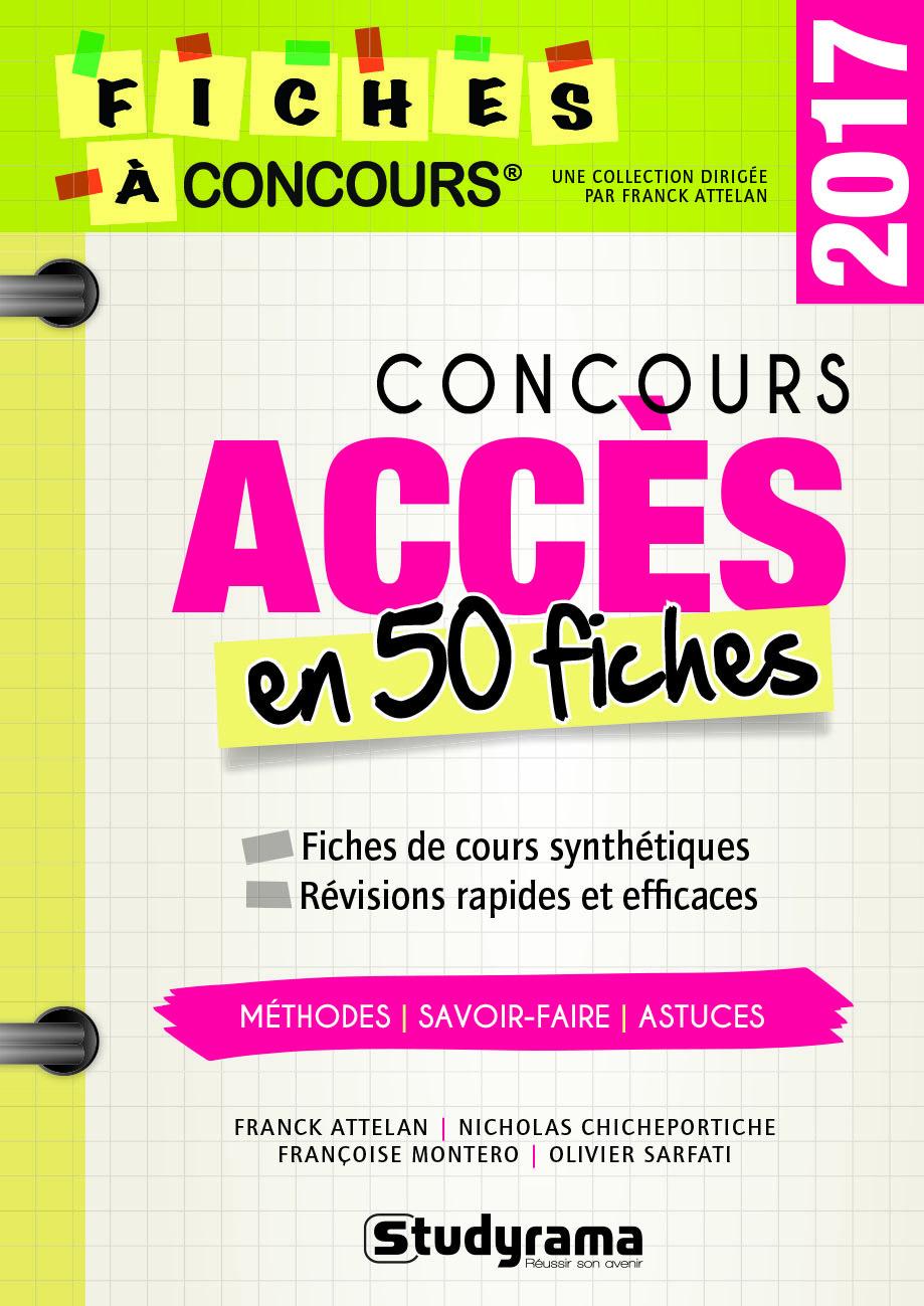 CONCOURS ACCES EN 50 FICHES 2017