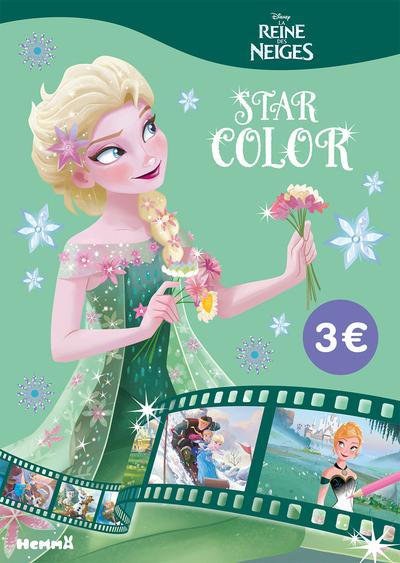 DISNEY LA REINE DES NEIGES STAR COLOR (FOND VERT)