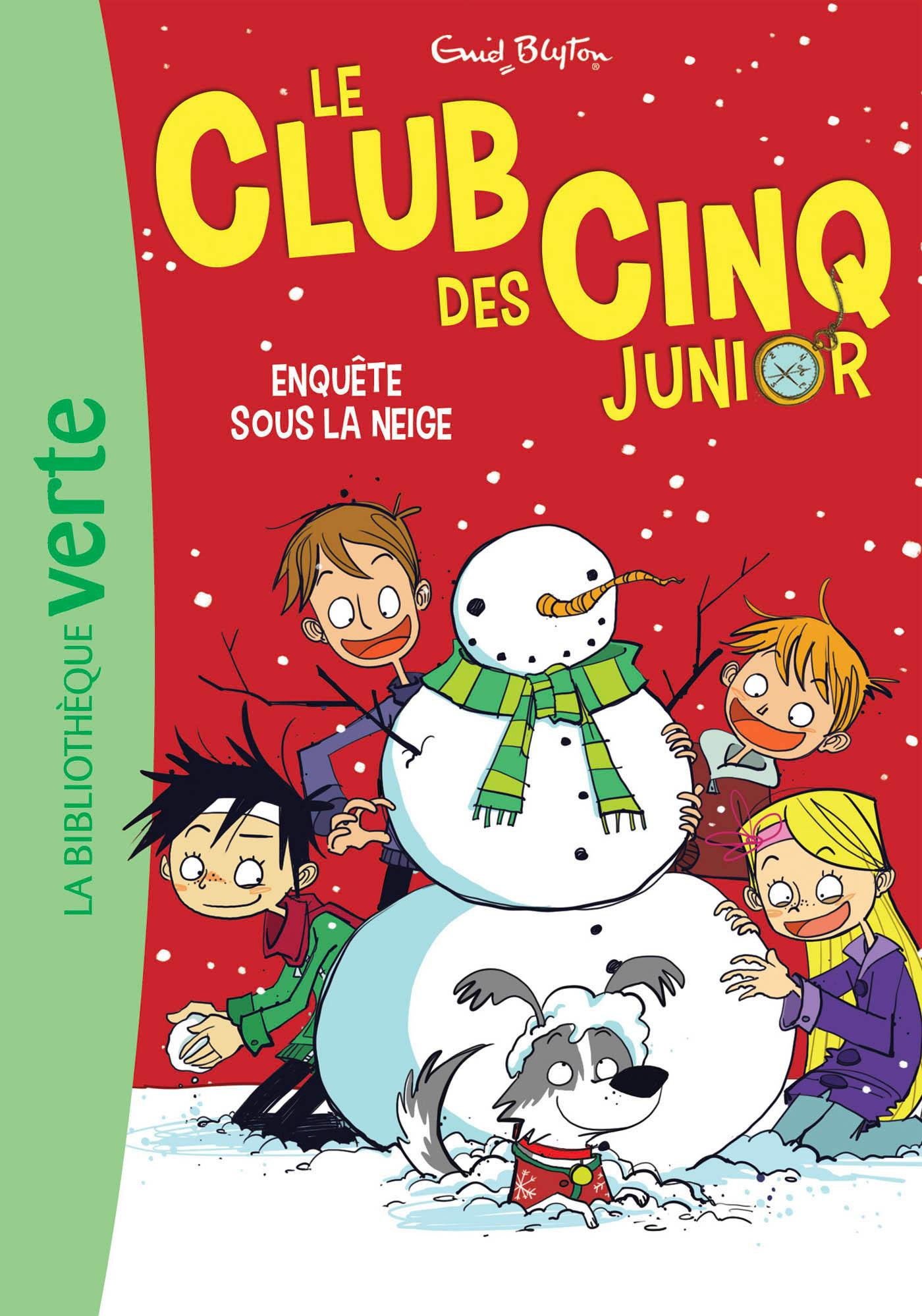 LE CLUB DES CINQ JUNIOR 08 - ENQUETE SOUS LA NEIGE - T8