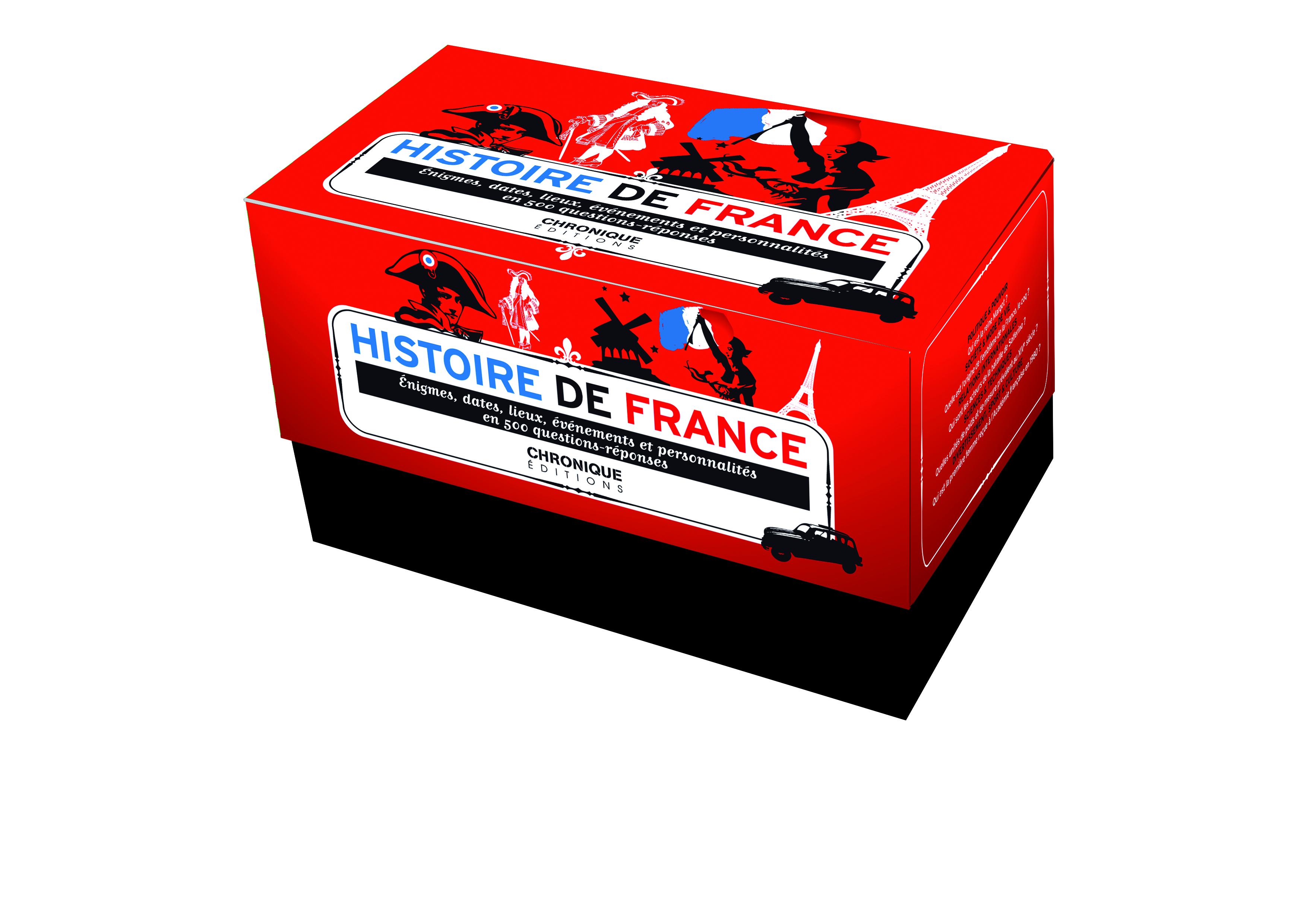 HISTOIRE DE FRANCE, QUIZ : DATES, LIEUX, ÉVÉNEMENTS ET PERSONNALITÉS EN 500 QUESTIONS