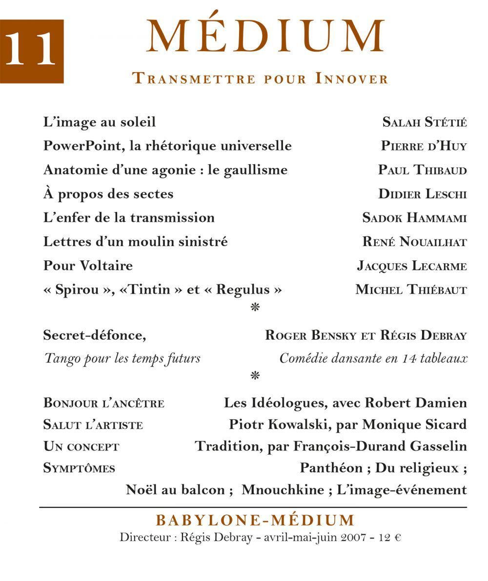 Médium n°11, avril-juin 2007