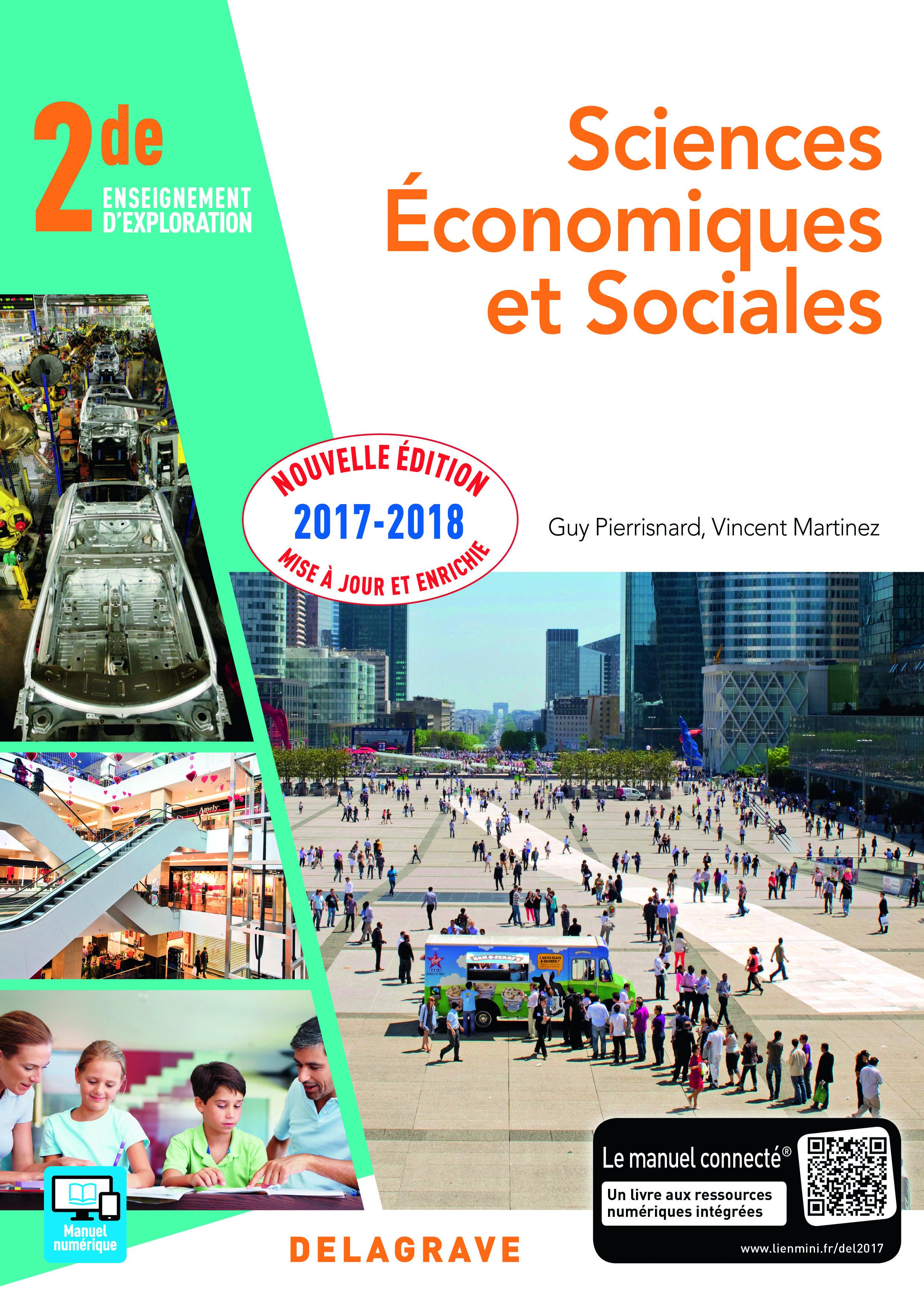SCIENCES ECONOMIQUES ET SOCIALES SES 2E ELEVE 2017
