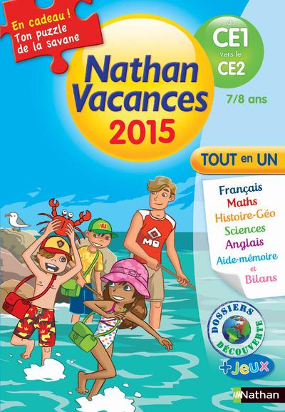CAHIER DE VACANCES 2015 PRIMAIRE TOUT EN UN CE1 VERS LE CE2