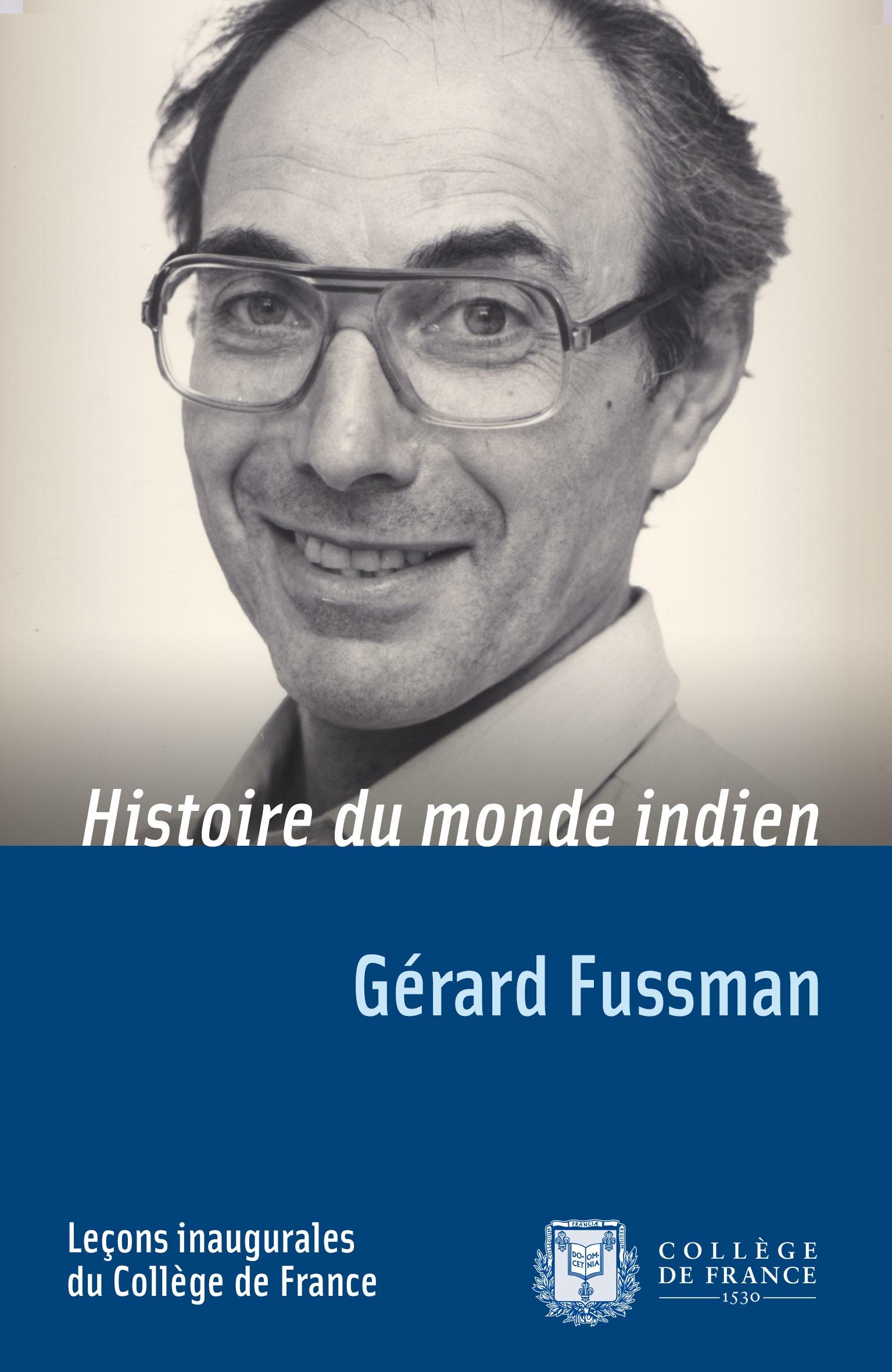 Histoire du monde indien, LEÇON INAUGURALE PRONONCÉE LE VENDREDI 5OCTOBRE1984