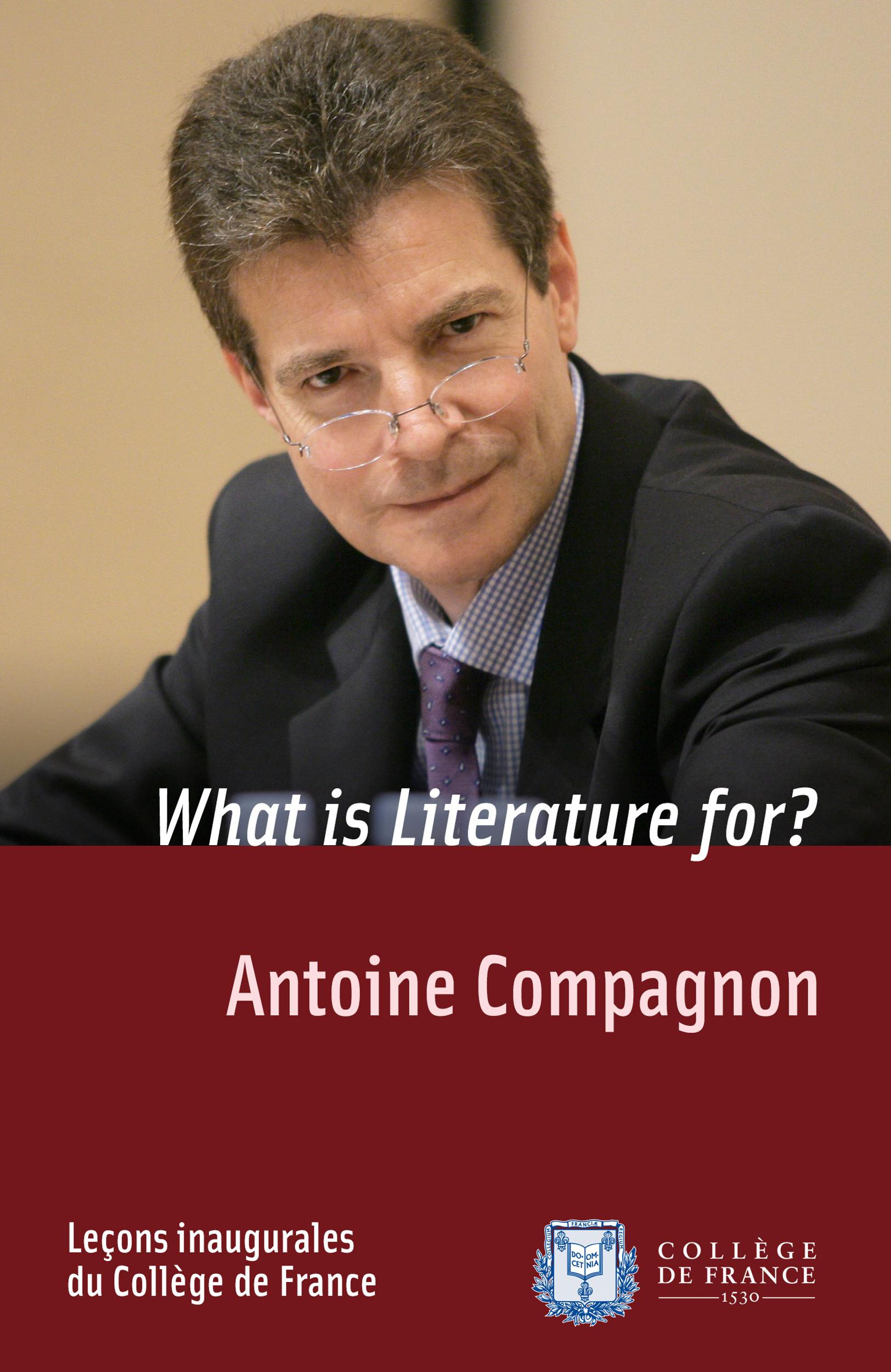 What is Literature for?, INAUGURAL LECTURE DELIVERED ON THURSDAY 30 NOVEMBER 2006
