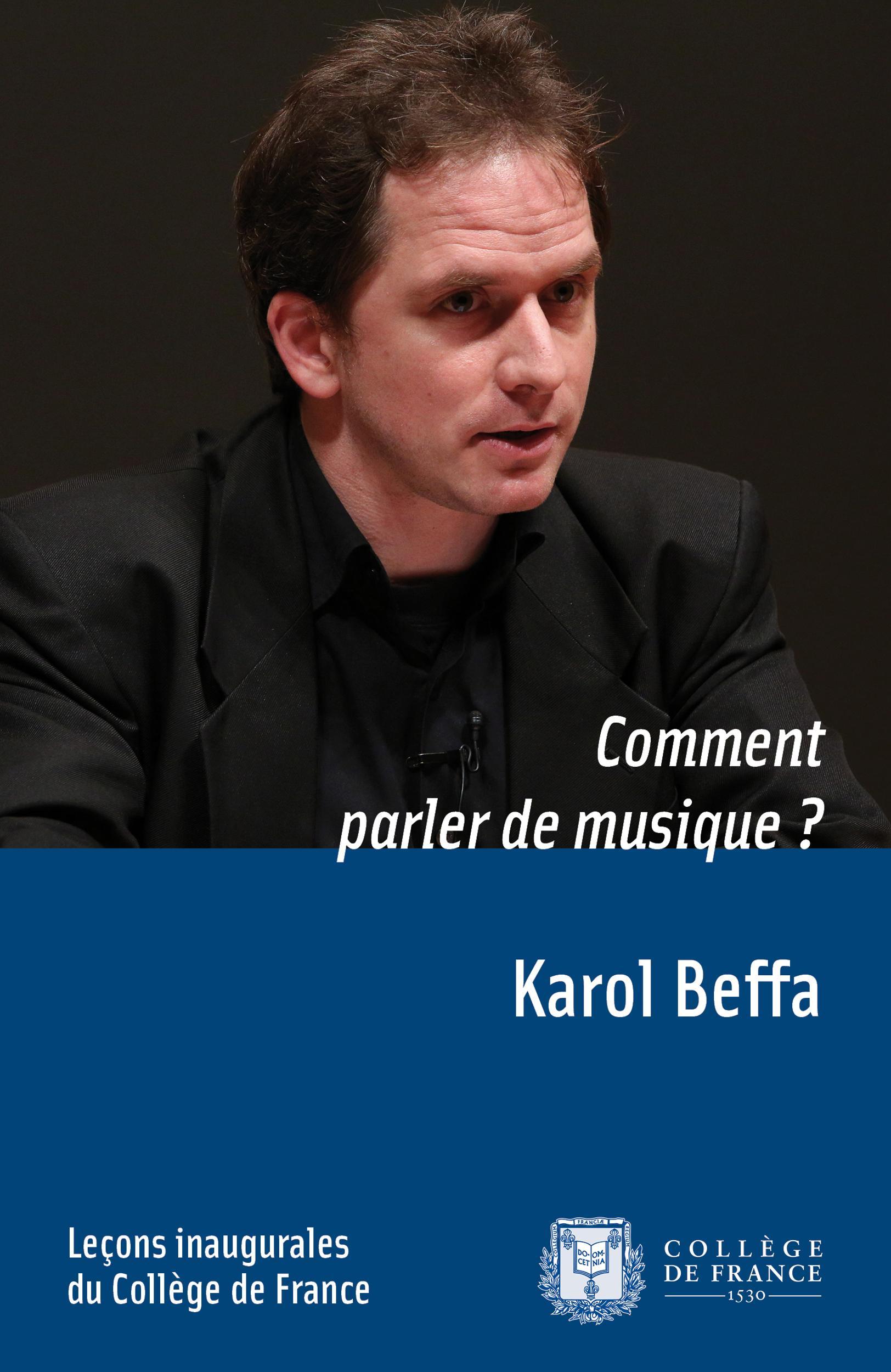 Comment parler de musique?, LEÇON INAUGURALE PRONONCÉE LE JEUDI 25OCTOBRE2012