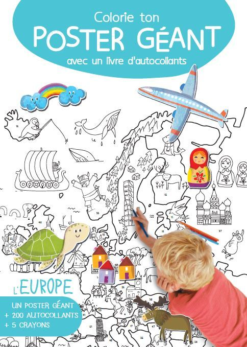 COLORIE TON POSTER GEANT L'EUROPE