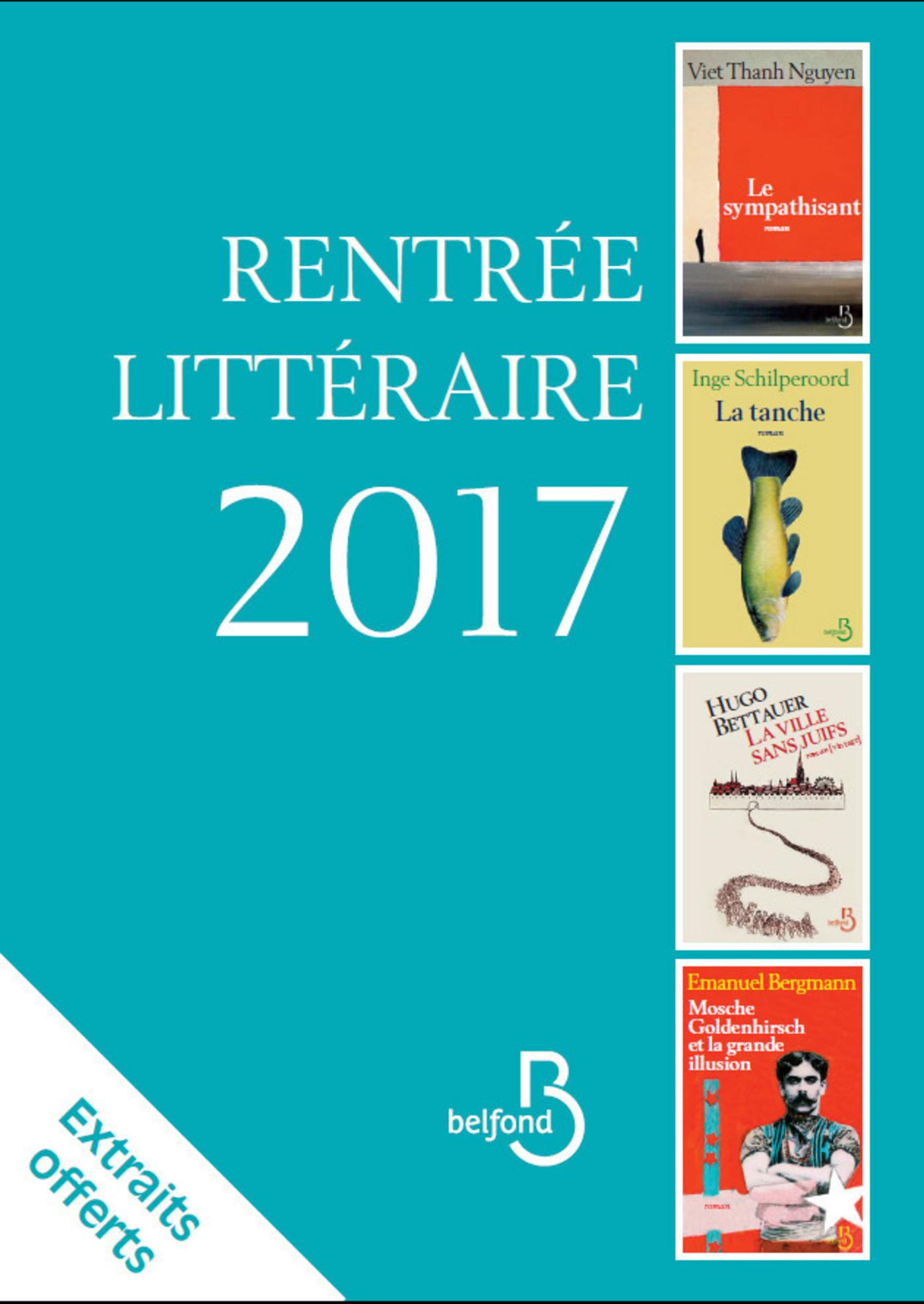 Rentrée littéraire Belfond Etranger 2017 (extraits gratuits)