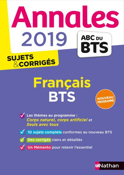 ANNALES BTS 2019 FRANCAIS