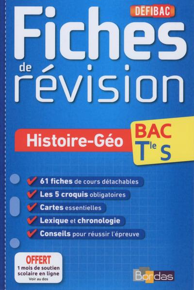 DEFIBAC FICHES DE REVISION HISTOIRE-GEO TERMINALE S