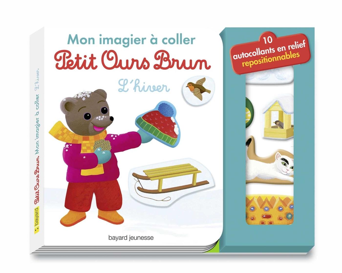 MON IMAGIER A COLLER PETIT OURS BRUN - L'HIVER