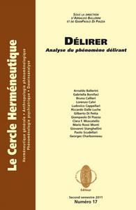 DELIRER ANALYSE DU PHENOMENE DELIRANT