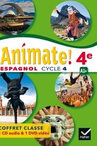 !Animate! Espagnol 4e - 2ème année, Coffret CD audio classe + DVD video