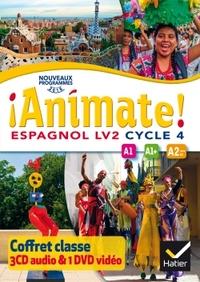 !Animate! Espagnol Cycle 4, Coffret CD audio classe + DVD video