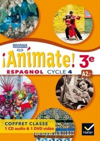!Animate! Espagnol 3e - 3ème année, Coffret CD audio classe + DVD video
