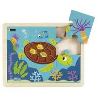 Puzzle bois - La tortue - 6p