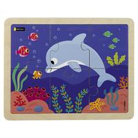 Puzzle bois - Le dauphin - 6p