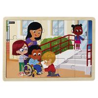 Puzzle bois - Le handicap - 15 pièces