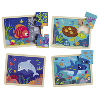 Puzzle bois - Animaux marins