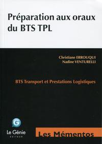 Préparation aux oraux du BTS TPL