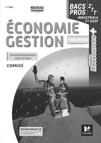 Ressources Plus - ECONOMIE-GESTION 2de 1re Tle Bac Pro - Ed. 2020 - Corrigé