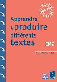Fiches ressources - duplifiches CM2, Apprendre à produire différents textes