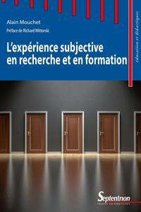 L'expérience subjective en recherche et en formation