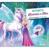 Ma pochette Licornes et fées - Cartes à pailleter et à colorier