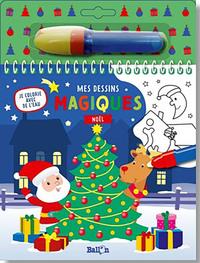Je colorie avec de l'eau - Noël
