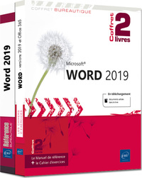 Word (versions 2019 et Office 365) - Coffret de 2 livres : Le Manuel de référence + le Cahier d'exer