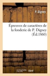 Épreuves de caractères de la fonderie de P. Digney