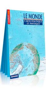 Carte du Monde : politique et physique (carte XXL)