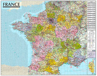 France 1/1M050 (carte murale laminée - sans barre)