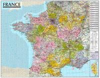 France 1/1M050 (carte murale laminée - avec barres