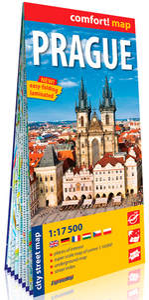 PRAGUE (ANG) 1/17.500 (CARTE GRAND FORMAT LAMINEE)