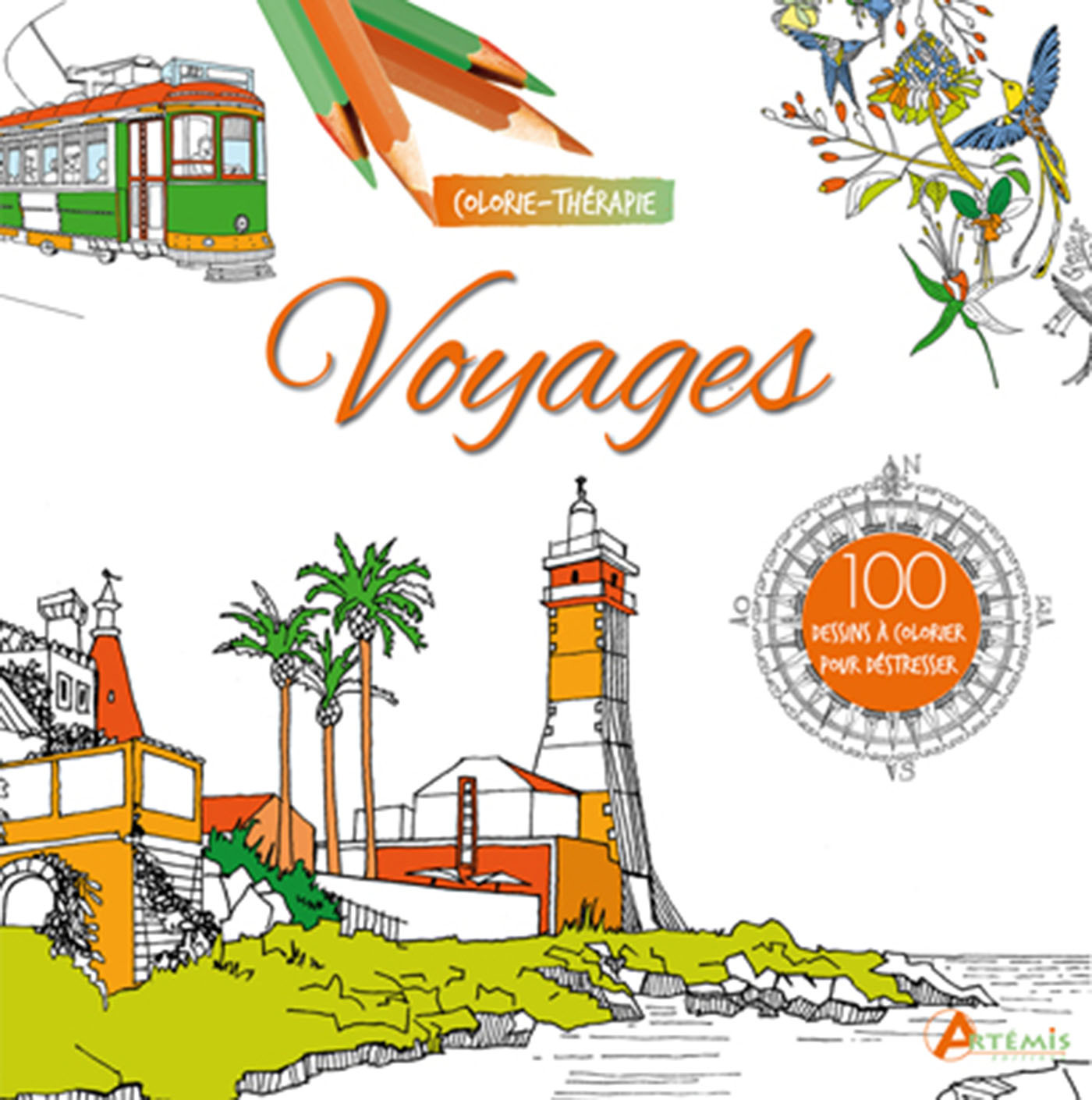 VOYAGES 100 DESSINS A COLORIER