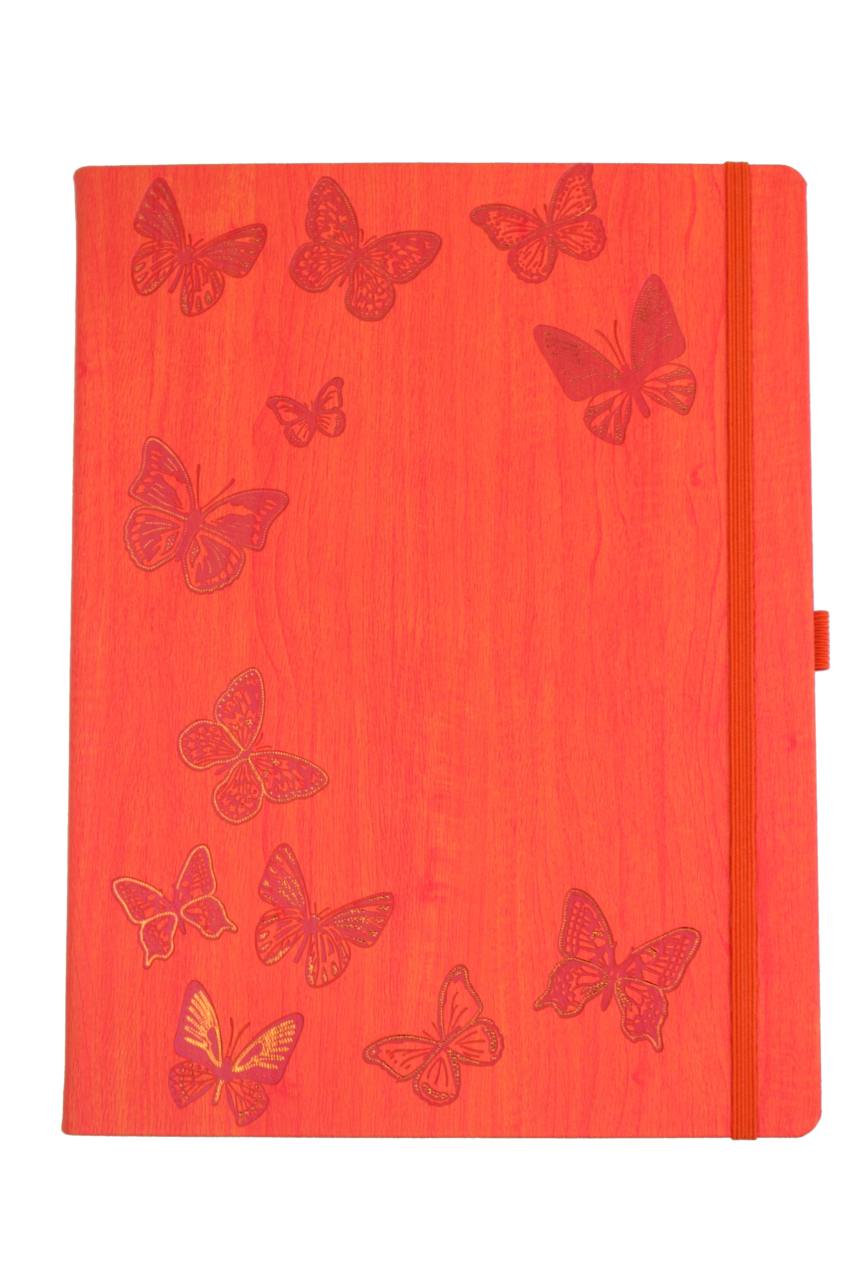 IVORY NATURE/PAPILLONS ORANGE 19 X 25 CM 240 PAGES