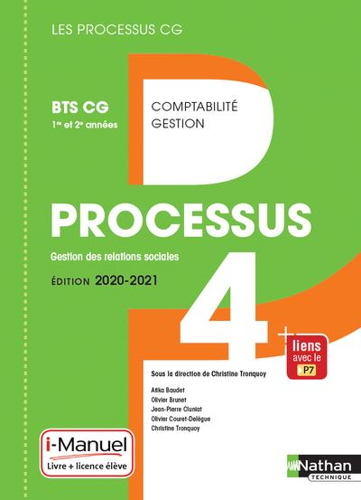 PROCESSUS 4 - BTS CG 1ERE ET 2EME ANNEES (LES PROCESSUS CG) LIVRE + LICENCE ELEVE - 2020